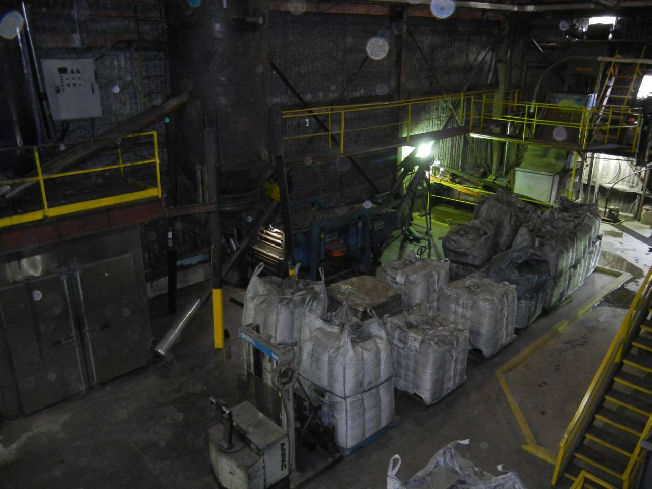 Inside plant – 1 tonne bags of finished graphite