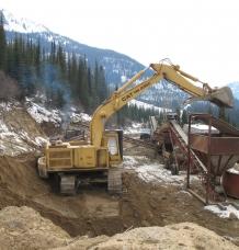 Quarrying underway