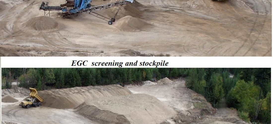 Stockpile with screening