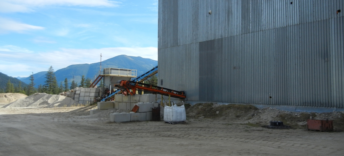 Outlet conveyor for oversize feed