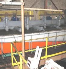 Inside plant – flotation cells operating
