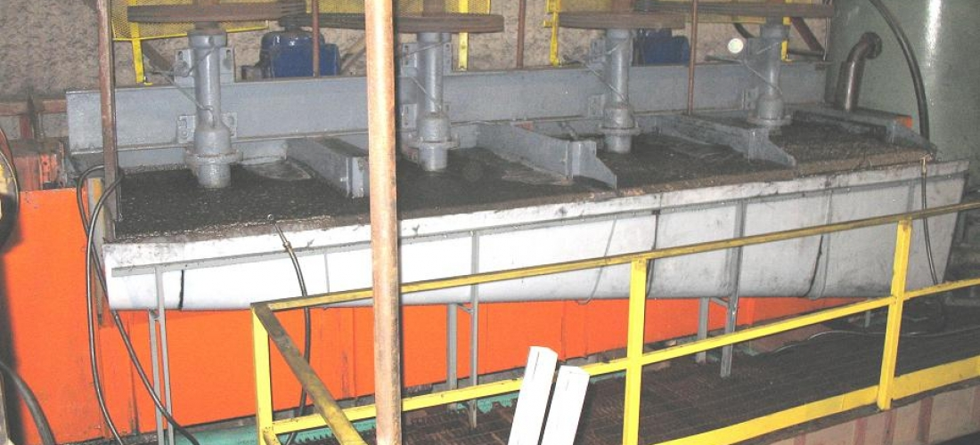 Inside plant – flotation cells operating